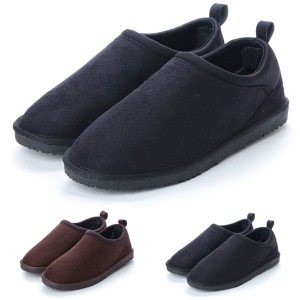 ブーツ スニーカーブーツ スリッポン風 ボア ムートン風 フェイクスエード 靴 シューズ メンズ ブラック ダークブラウン SALE セール