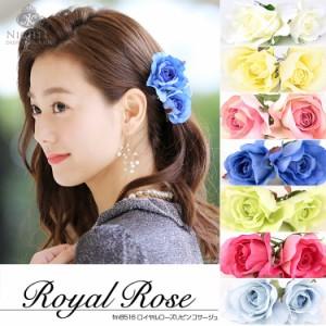 d5d7952a0a967 日本製 薔薇 バラ ハンドメイド コサージュ フォーマル 髪飾り ヘアアクセサリー 手作り ヘアアクセ 髪飾り 花