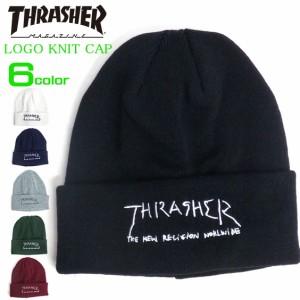 31d191d9c636c6 THRASHER ニット帽 スラッシャー ニット帽 ブランドロゴ 刺繍 メンズ ニットキャップ THRASHER-1005