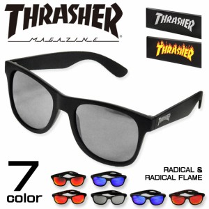 THRASHER サングラス スラッシャー カラーレンズグラス ロゴマーク お洒落眼鏡 紫外線対策 THRASHER-1029