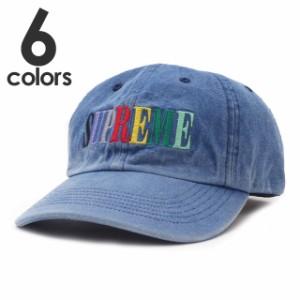 新品 シュプリーム SUPREME Multi Color Logo 6-Panel Cap キャップ ヘッドウェア