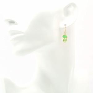 ロジウムポストピアスセット(蓄光スケルトン)【alamode-222】