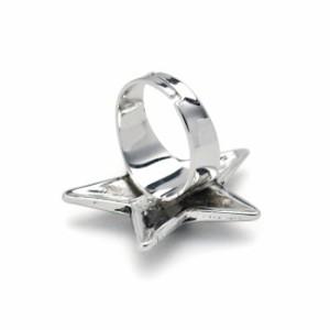 【メール便送料無料SALEセール】メタルスターフリーサイズリング指輪レディースメンズ男女兼用星アンティークヴィンテージロッククール