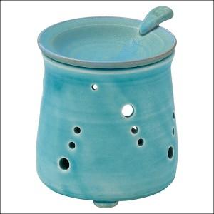 送料無料 山田トルコブルー茶香炉 Y-1911 茶香炉 アロマポット リラックス 消臭 癒し インテリア 芳香器 キャンドル