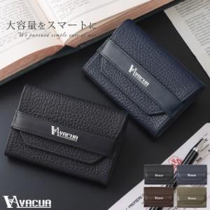 名刺入れ メンズ カードケース 本革 大容量 使いやすい おしゃれ 紳士 シンプル VACUA ヴァキュア 【VA-6303】