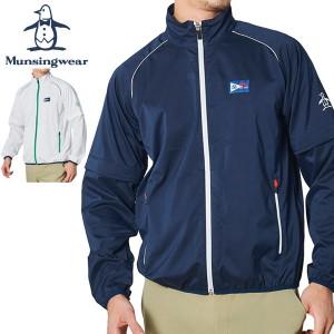 マンシングウェア メンズ ゴルフウェア 袖ディタッチャブル 2WAY ストレッチ フルジップ ブルゾン MGMRJK01X 2021年春夏モデル M-LL