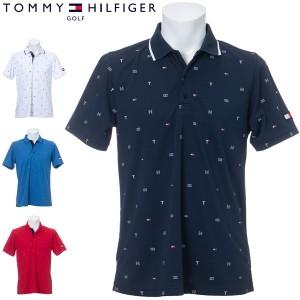 トミーヒルフィガー ゴルフ ウェア メンズ TH フラッグ モノグラム 半袖 ポロシャツ THMA106 2021年春夏モデル M-LL