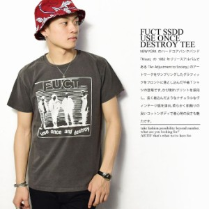 30%OFF!FUCT SSDD ファクト USE ONCE DESTROY TEE メンズ 半袖Tシャツ ロゴ グラフィック fuct ssdd tシャツ atftps