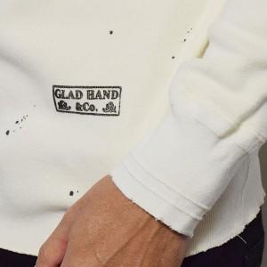 GLAD HAND グラッドハンド THICK L/S T-SHIRT USED -WHITE- メンズ Tシャツ 長袖 ロンT ストリート 送料無料 atftps