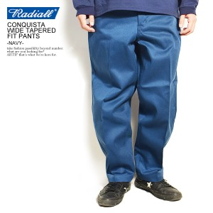 RADIALL ラディアル CONQUISTA - WIDE TAPERED FIT PANTS -NAVY- radiall メンズ パンツ ワークパンツ 送料無料 ストリート atfpts