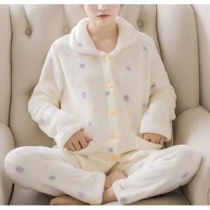 [即納] ルームウェア レディース もこもこ パジャマ ふわふわ 冬 部屋着 トップス ボトムス ナイトウェア