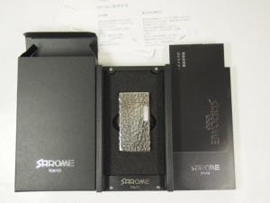 日本製 SAROMEサロメ・ガスライター #SD1-57 シルバー銀古美/4面ハンマートーン S5 槌目  新品