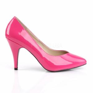 取寄せ靴 送料無料 新品 ポインテッドゥ ハイヒール パンプス 10cmヒール ホットピンク エナメル 大きいサイズあり