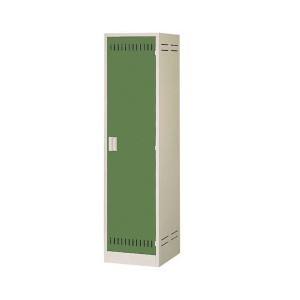 掃除用具ロッカー ニューグレー×ゴールドグリーン COM-NCP