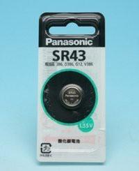 """""""(まとめ買い)パナソニック 酸化銀電池 SR43P 00000819 〔×5〕"""""""