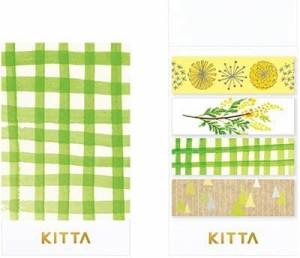 【メール便発送】キングジム マスキングテープ キッタ コラボ KITTA COLLABO (サンポ) KITX004