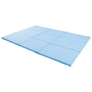 家族用 みんなで使えるマットレス/寝具 〔5人用 280×200cm〕 抗菌防臭 綿混素材 ウレタンフォーム 〔ベッドルーム 寝室〕