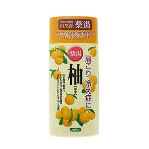 日本製 japan 紀陽除虫菊 ノボピン 薬湯 柚 ゆず(にごり湯) 480gボトル【まとめ買い20個セット】 N-0018の画像