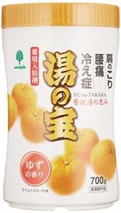 紀陽除虫菊 湯の宝 ゆずの香り (丸ボトル) 700g【まとめ買い15個セット】 N-0065の画像