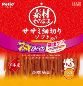 ペティオ 素材そのまま ササミ細切りソフト 7歳からの健康ケア 280g 犬用おやつ