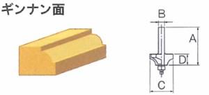 リョービ(RYOBI) ギンナン面2分用(4.5R) トリマビット 4903100 新着の画像