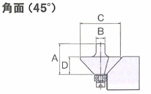 リョービ(RYOBI) 角面(45度) トリマビット 4903103 新着の画像