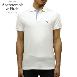 b8bc08d07f8859 アバクロ Abercrombie&Fitch 正規品 メンズ ストレッチ ワンポイントロゴ 半袖ポロシャツ STRETCH ICON POLO 124-