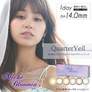 クーポン配布中!ミッシュブルーミン Miche Bloomin 1day 07 スモーキーマロン 10枚入 2箱セット (姫野佐和子 カラコン ワンデー)