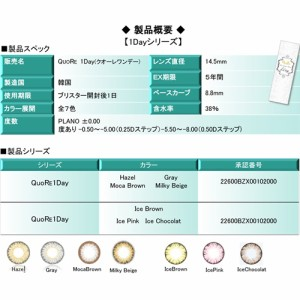 クオーレ Quore 1day 10枚入(宮内理沙 カラコン ワンデー)