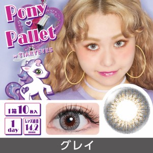 13aeee228c169 ポニーパレット バイ ティアリーアイズ Pony Pallet 1day 04 Gray 10枚入 2箱セット