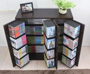 【送料無料!ポイント2%】DVDで最大400収納 書棚ストッカー   最大収納DVDで400枚 CD340枚 コミック400冊収納可能♪