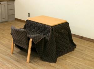 クーポン進呈中【送料無料!ポイント2%】1人用こたつ ハイタイプ 長方形 70×50cm こたつ布団 イス 3点セット テーブル リビングテーブル