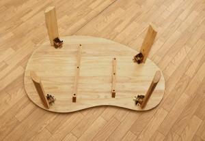 【送料無料!ポイント2%】 【アウトレット】NEWウッディーテーブル ビーンズ 天然木 折りたたみテーブル ローテーブル