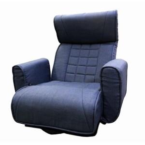 【送料無料!ポイント2%】レバー式スプリング回転座椅子 FKSLーバラク 回転式 回転座椅子 座椅子 椅子 いす イス 肘付