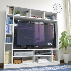 50インチ対応 135幅 テレビ台 壁面 収納ゲート型 収納家具 テレビ台・ローボード TVB-135 テレビ台 TV台 テレビラック 壁面収納 リビング