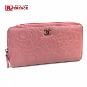 49d878232c8a あす着 CHANEL シャネル カメリアエンボス CC 長財布(小銭入れあり) ピンク