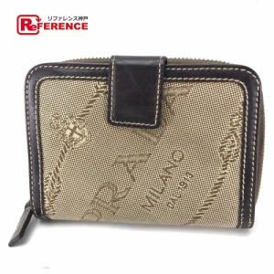 593c88a125a3 あす着プラダ ロゴジャガード メンズ レディース 二つ折り財布(小銭入れあり)