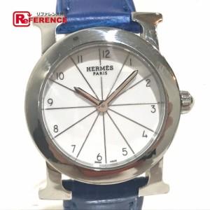 930b1fb5b4 あす着 HERMES エルメス HR1.210 Hウォッチ ロンド 腕時計 シルバー