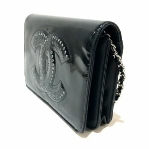 df8e73f20781 あす着 CHANEL シャネル A48115 財布バッグ ストラスCC ショルダーバッグ ブラック