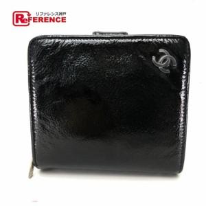 dd5d5a0de7cd あす着 CHANEL シャネル ココマーク 二つ折り財布(小銭入れあり) ブラック