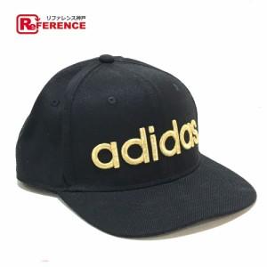 50869a02c3d5a あす着 adidas アディダス 刺繍ロゴ キャップ帽 帽子 ブラックxゴールド