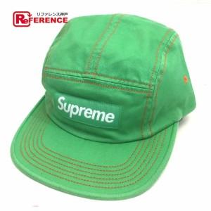 未使用  あす着 Supreme シュプリーム Contrast Stitch Camp Cap 帽子 グリーン グリーン メンズ