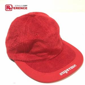 新品同様 あす着 Supreme シュプリーム キャップ テリーパイルバイザーロゴ 帽子 ユニセックス