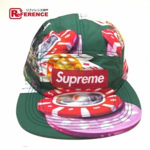 未使用  あす着 Supreme シュプリーム カジノ キャンプ キャップ 帽子 グリーン グリーン メンズ