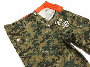 テッドマン クロップドパンツ DEVIL-SP1000 TEDMAN エフ商会 メンズ ショーツ デジカモグリーン 新品