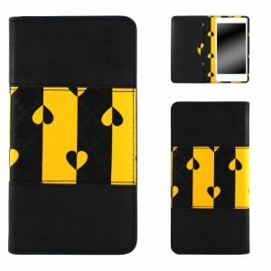 AQUOS PHONE Xx mini 303SH ケース 手帳型 スマホケース オーダー モノクローム ベルトなし バンドレス スマホカバー