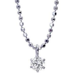 1粒 ダイヤ ネックレス レディース ダイヤモンド 0.1ct 6本爪 ダイヤ モンド ローズボックス 付 送料無料
