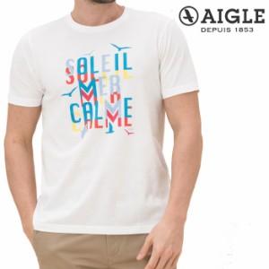 【即納!】エーグル AIGLE グラフィックTシャツ 半袖 メンズ ZTH014J 吸水速乾 銀イオン抗菌