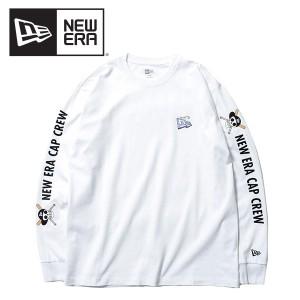 ニューエラ(NEW ERA) 長袖 コットン Tシャツ ONE PIECE ワンピース 悪魔の実 フラッグロゴ NEW ERA CAP CREW《White》[AA]