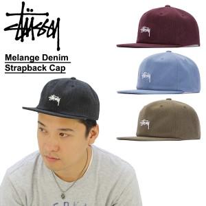 16e20f95a7407 ステューシー(STUSSY)Melange Denim Strapback Cap キャップ 帽子 BB の ...